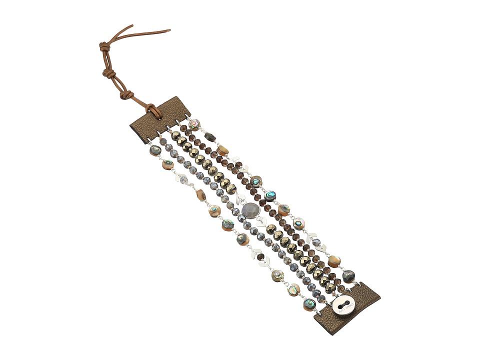 CHAN LUU Single Wrap Bracelet with 5 Layers (Abalone Mix)...