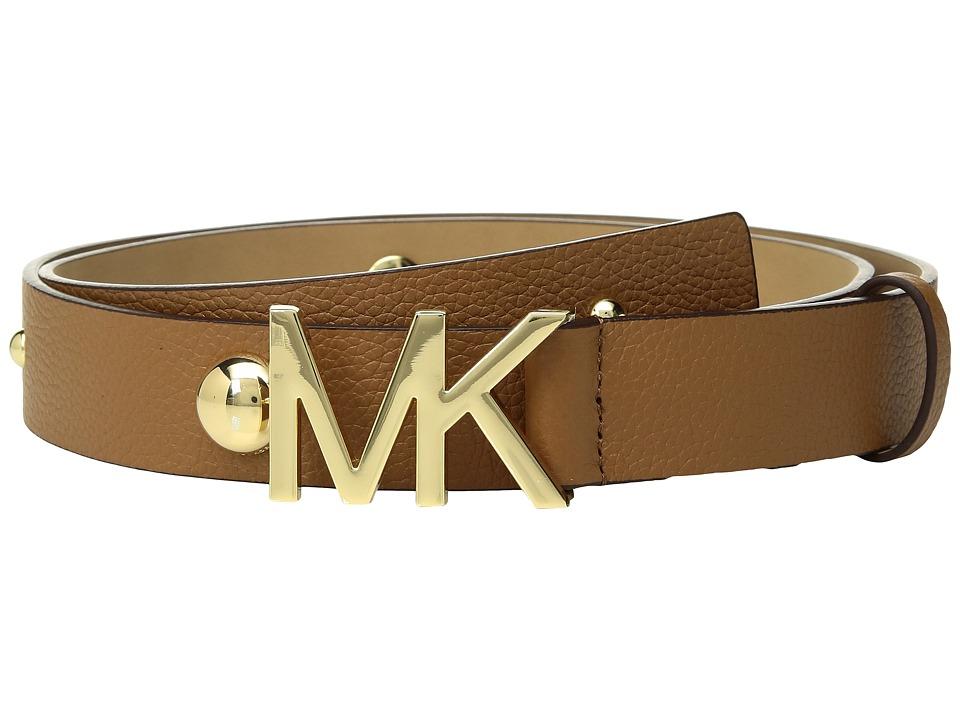 MICHAEL Michael Kors Leather Belt w/ Dome Studs (Acorn) Women