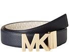 MICHAEL Michael Kors 38mm Reversible Pebble to Logo Belt on MK Plaque Buckle