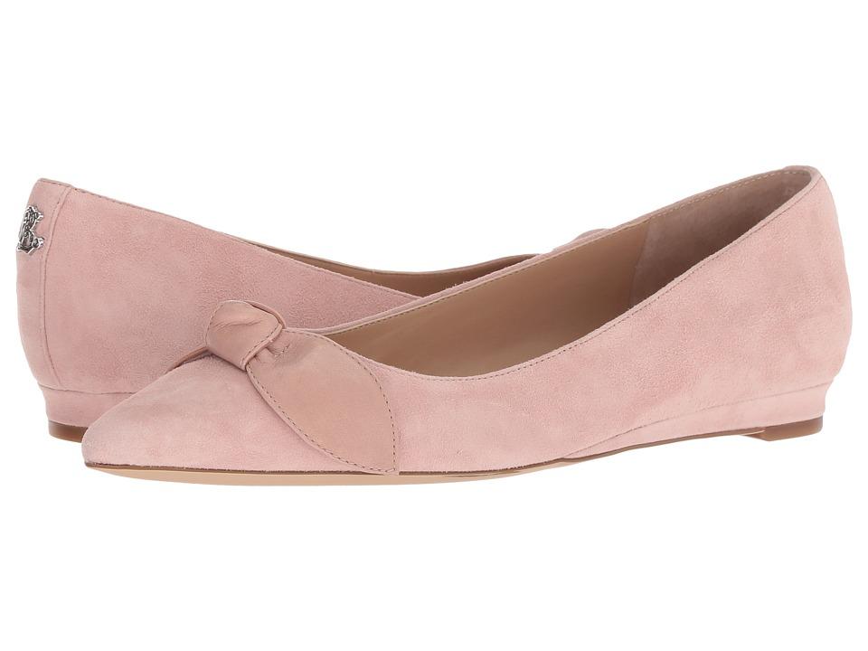 LAUREN Ralph Lauren Amarinda (Pearl Pink/Pearl Pink Kid Suede/Super Soft Leather) Flats
