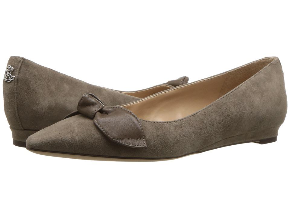 LAUREN Ralph Lauren Amarinda (Light Taupe/Light Taupe Kid Suede/Super Soft Leather) Flats
