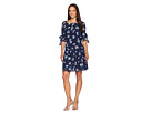 Vince Camuto Vince Camuto Fit and Flare Dress with 1/2 Sleeves and Bows