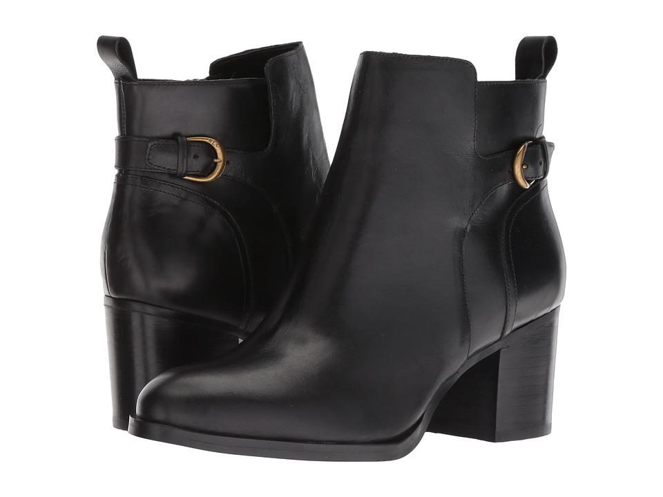 LAUREN Ralph Lauren Ginelle (Black Smooth Oil Leather)