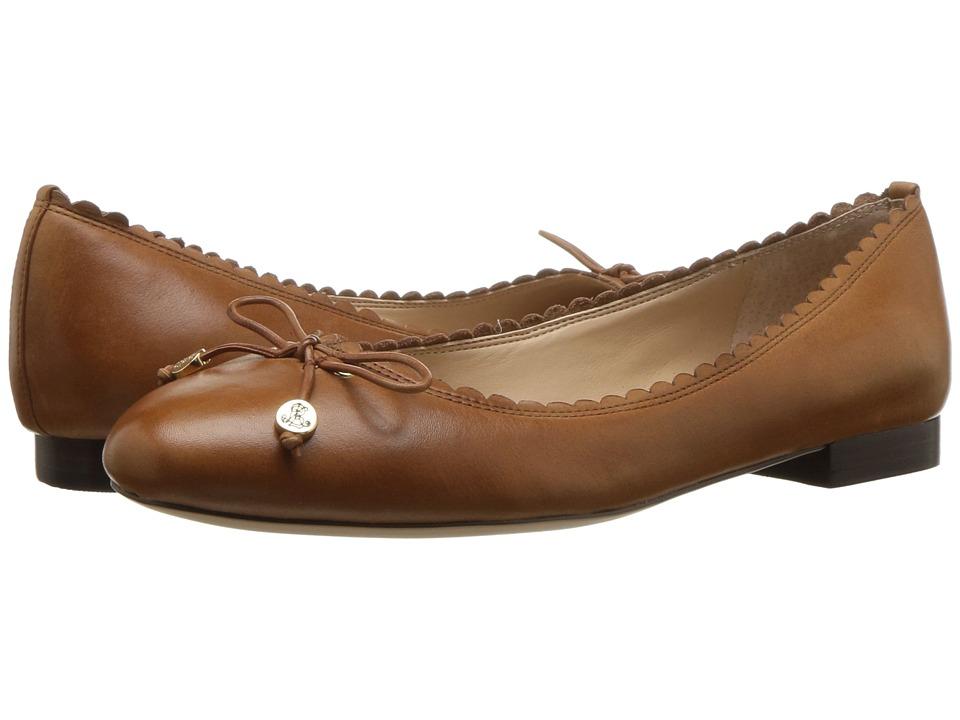 LAUREN Ralph Lauren Glennie (Deep Saddle Tan Super Soft Leather) Flats