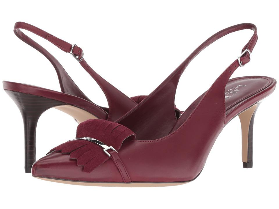 LAUREN Ralph Lauren Latasha (Merlot/Merlot Burn Calf/Kid Suede) Women's Shoes