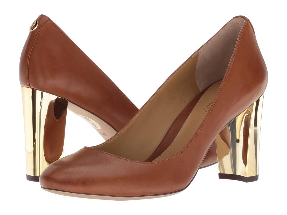 LAUREN Ralph Lauren Maddie (Deep Saddle Tan Super Soft Leather) Women's Shoes