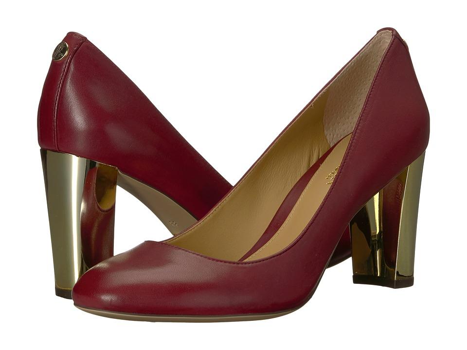 LAUREN Ralph Lauren Maddie (Merlot Super Soft Leather) Women's Shoes