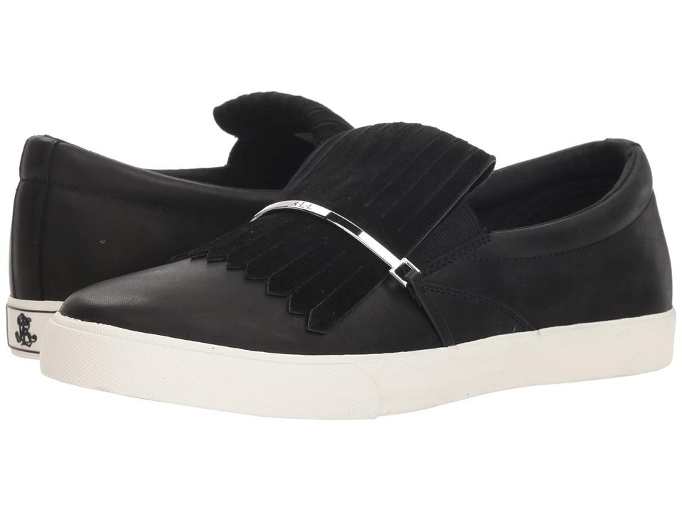LAUREN Ralph Lauren Reanna (Black/Black Signature Burn Calf/Kid Suede) Women's Shoes