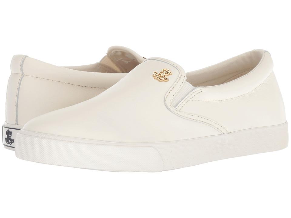 LAUREN Ralph Lauren Ria (Artist Cream Super Soft Leather) Women's Shoes