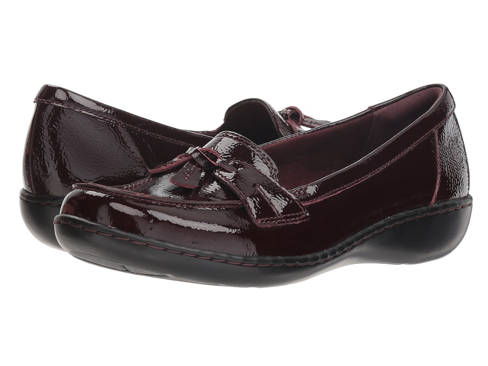 Clarks Ashland Bubble (Burgundy Patent Leather) Slip-On Shoes