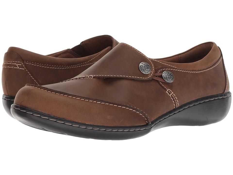 Clarks Ashland Lane Q (Dark Tan Leather) Women's Shoes