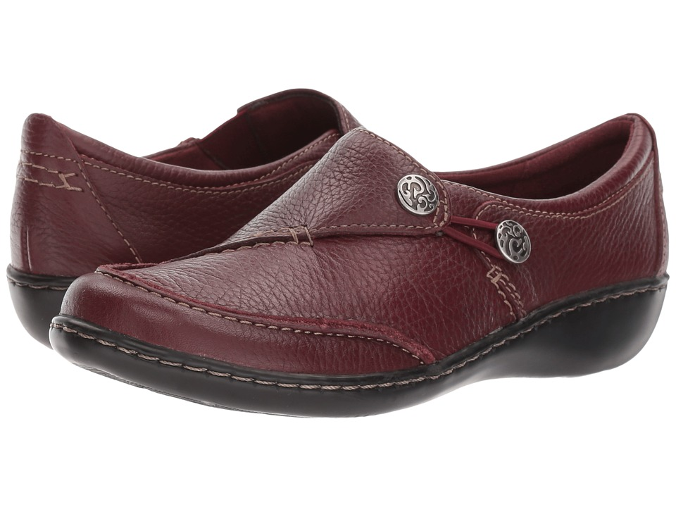 Clarks Ashland Lane Q (Burgundy Tumbled Leather) Women's Shoes