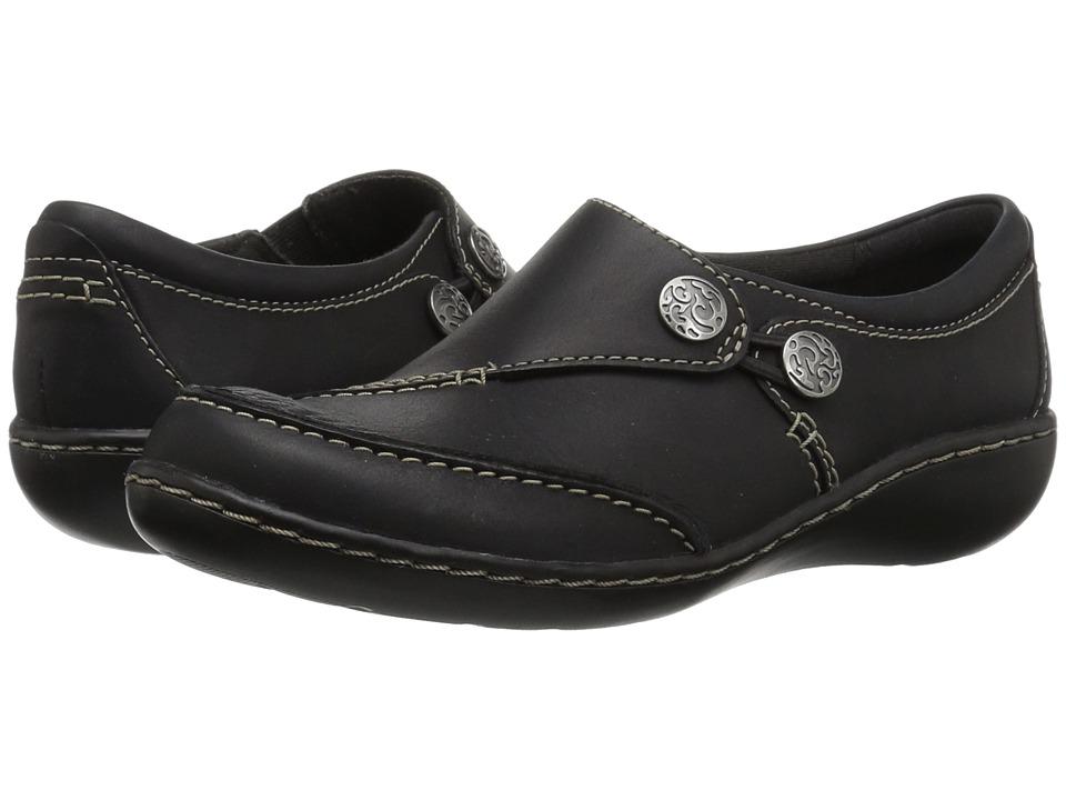 Clarks Ashland Lane Q (Black Leather) Women's Shoes