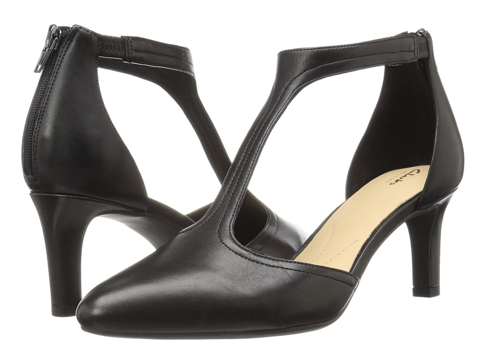 Clarks Calla Lily (Black Satin) High Heels