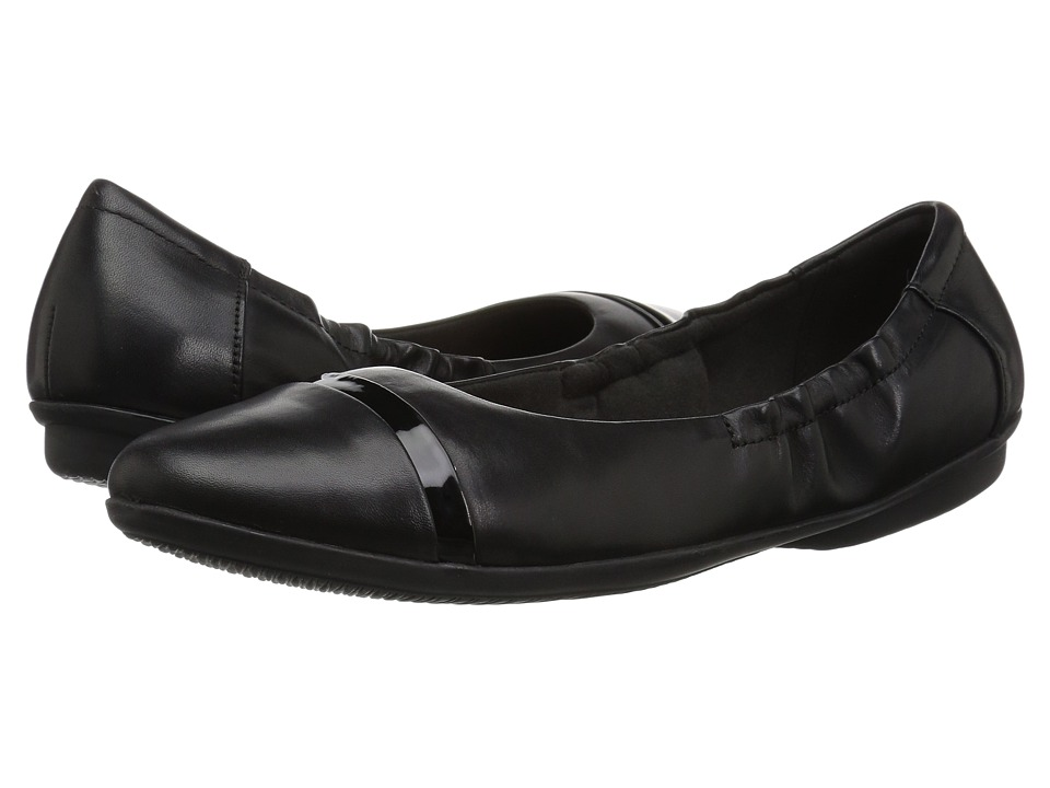 Clarks Gracelin Jenny (Black Leather) Women's Shoes