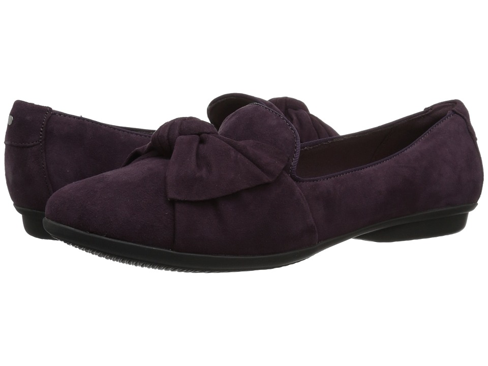 Clarks Gracelin Jonas (Aubergine Suede) Women's Shoes