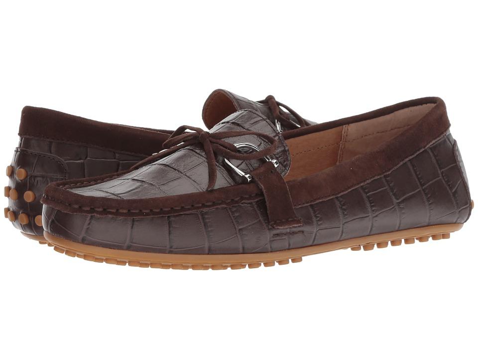LAUREN Ralph Lauren Briley Moccasin Loafer (Dark Brown/Dark Brown Soft Croc/Kid Suede) Women's Shoes