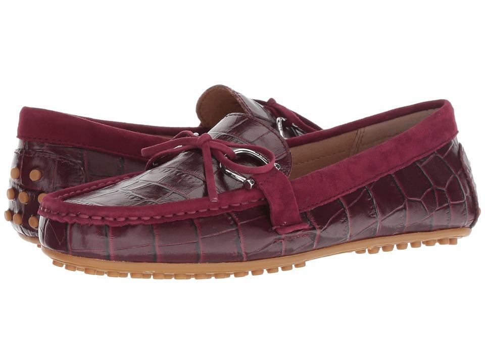 LAUREN Ralph Lauren Briley Moccasin Loafer (Merlot/Merlot Soft Croc/Kid Suede) Women's Shoes