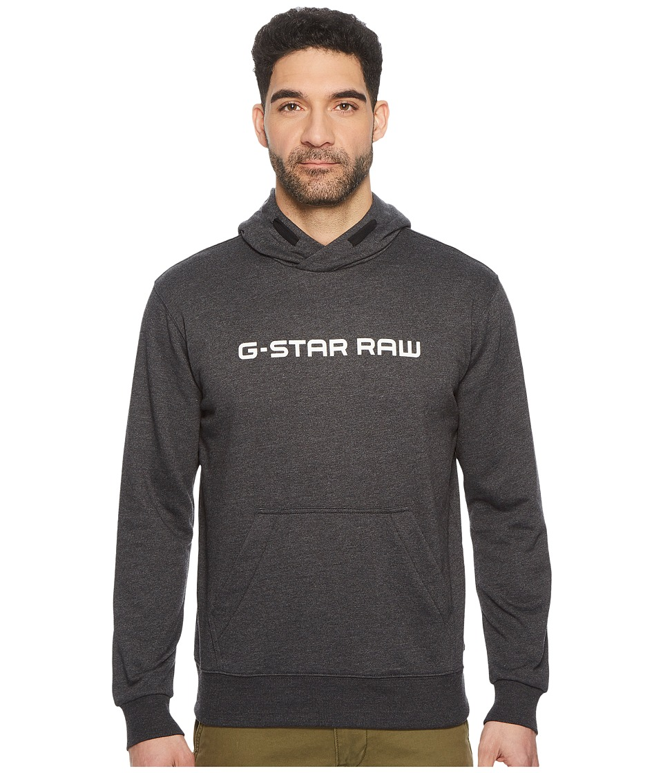G-Star Loaq Hooded Long Sleeve Sweater (Dark Black Heather) Men