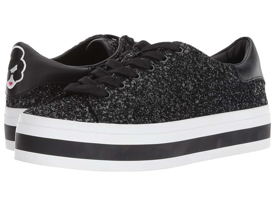 Alice + Olivia Ezra (Black Glitter) Women's Shoes