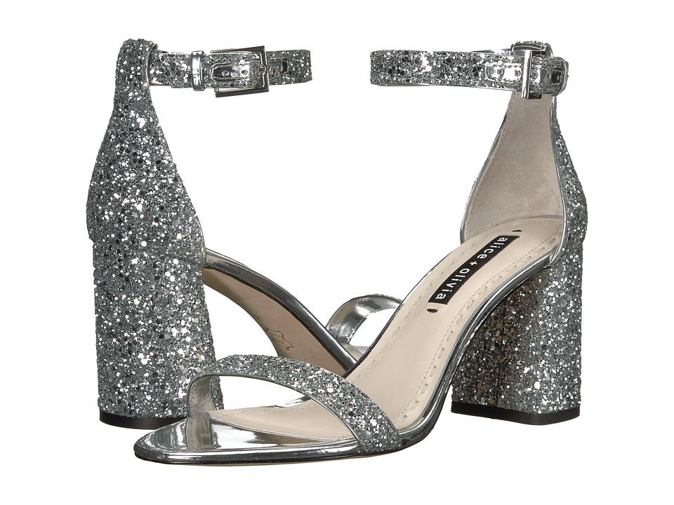 Alice + Olivia Lillian (Silver) Women's Shoes