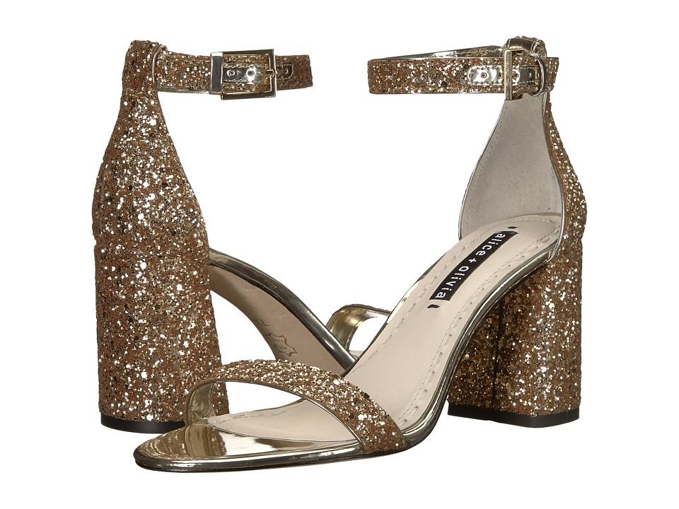 Alice + Olivia Lillian (Gold) Women's Shoes
