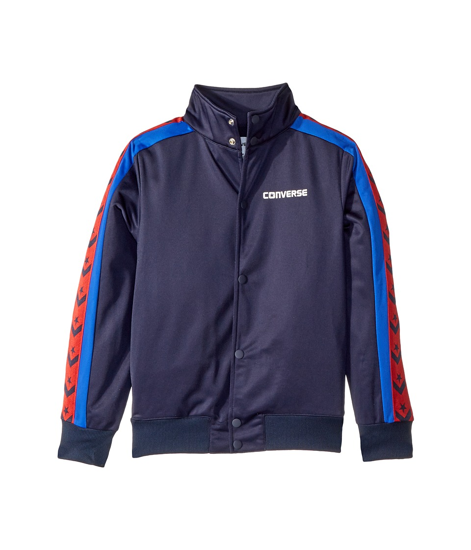 Converse Kids - Heritage Warmup Bomber (Big Kids) (Obsidian) Boys Coat