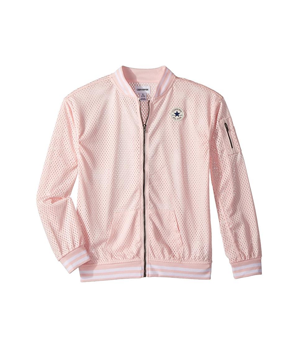 Converse Kids - Mesh Bomber (Big Kids) (Iced Pink) Girls Coat