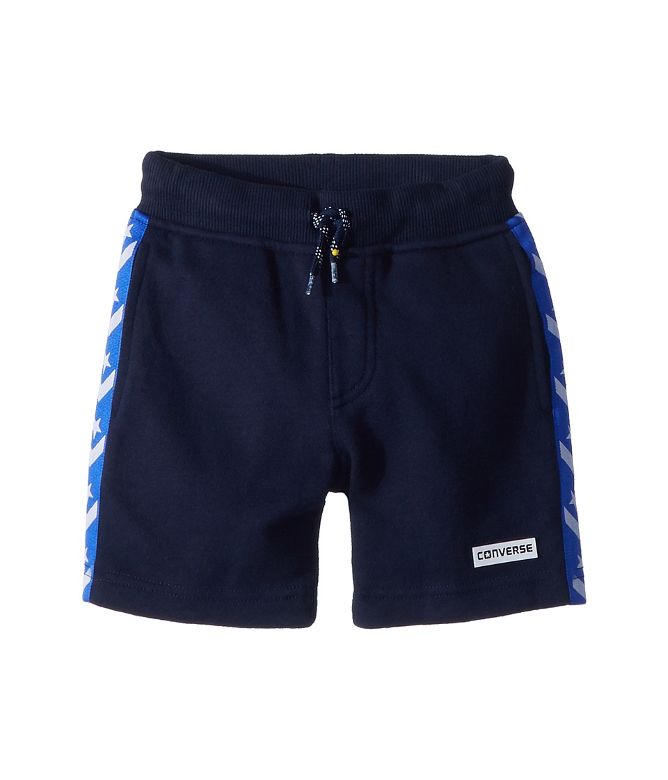 Converse Kids - Star Chevron Knit Shorts (Little Kids) (Obsidian) Boys Shorts