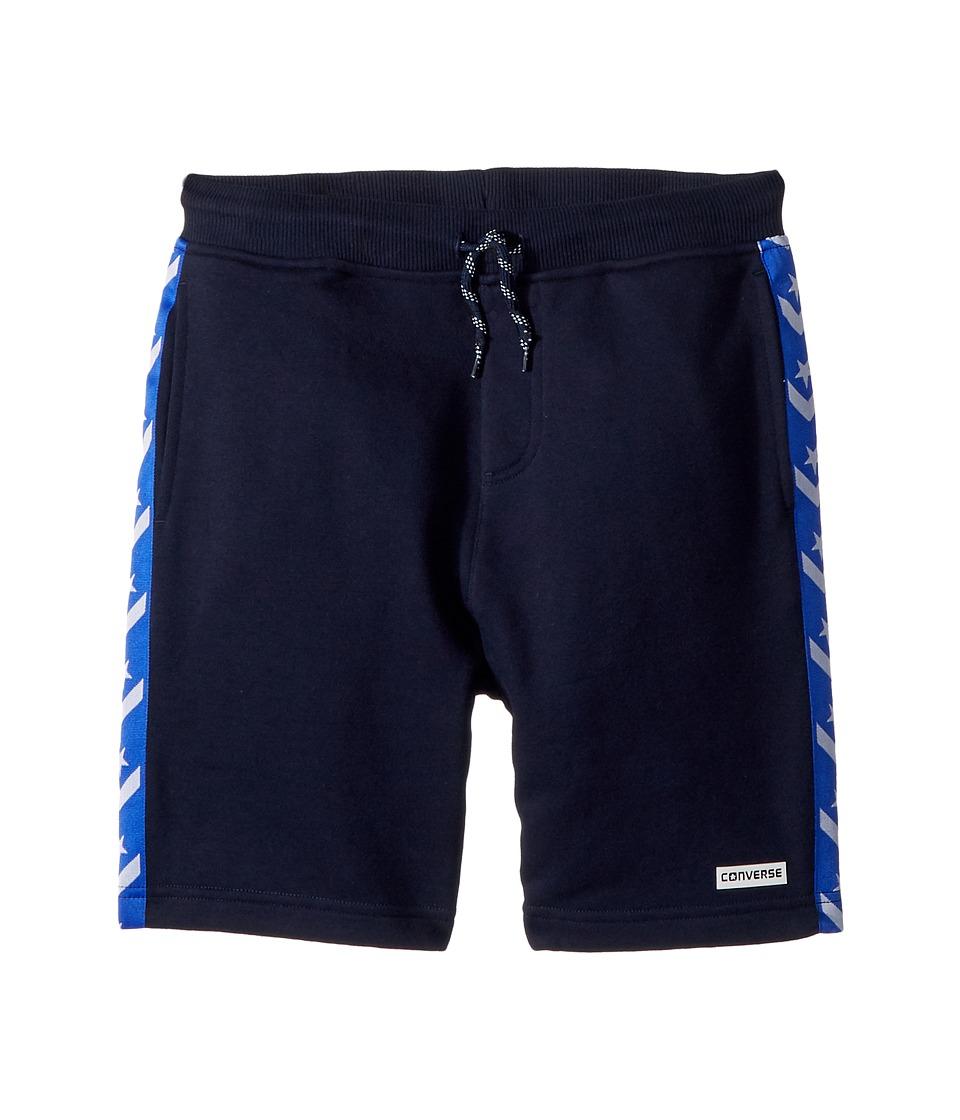 Converse Kids - Star Chevron Knit Shorts (Big Kids) (Obsidian) Boys Shorts