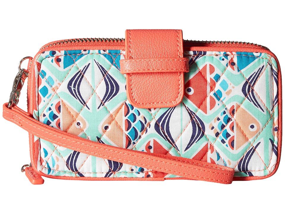 Vera Bradley - RFID Smartphone Wristlet (Go Fish) Wristlet Handbags