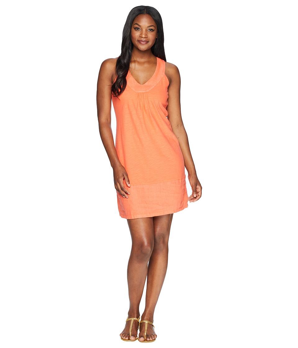 Tommy Bahama Arden Sleeveless Flounce Dress (Burnt Coral) Women