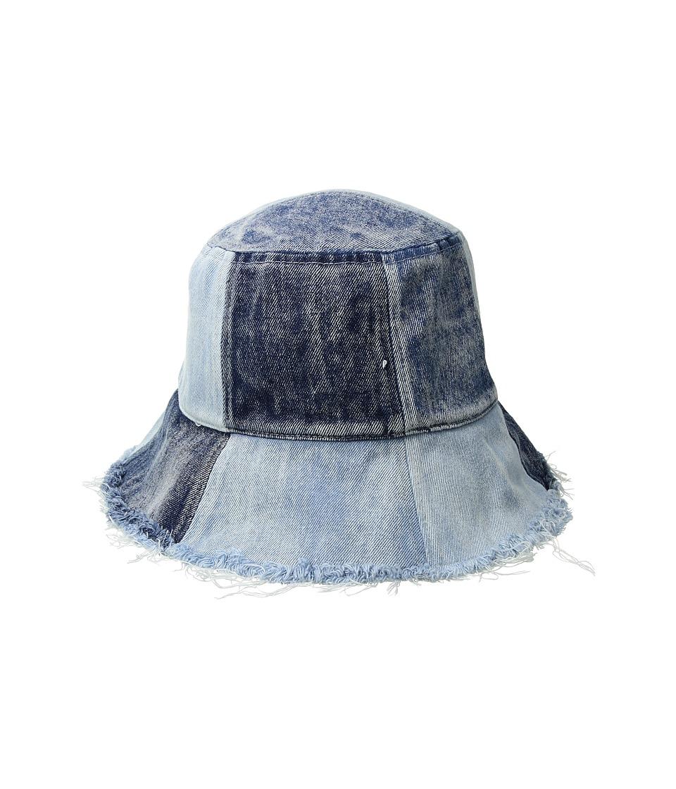 BCBGeneration - Patched Denim Bucket (Denim) Caps