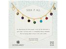 Dogeared Seek It All, Multi Bezeled Gem Necklace