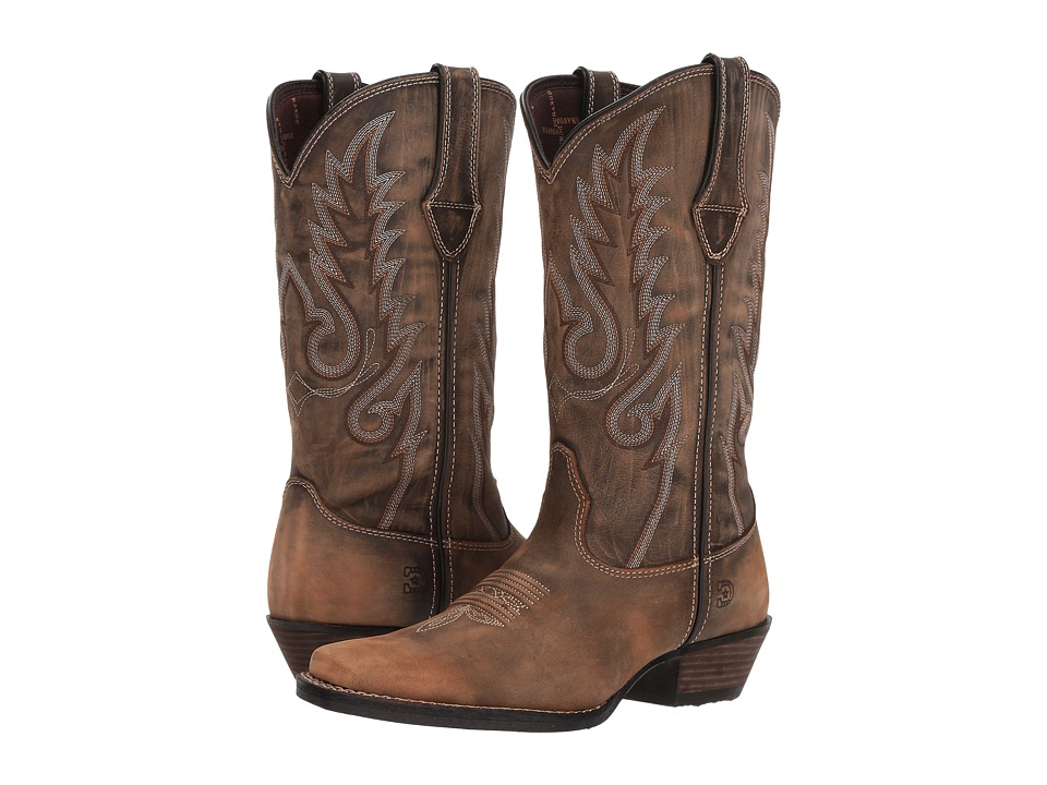 Durango Dream Catcher 12 Fancy Stitch (Distressed Brown/Tan) Women's Cowboy Boots