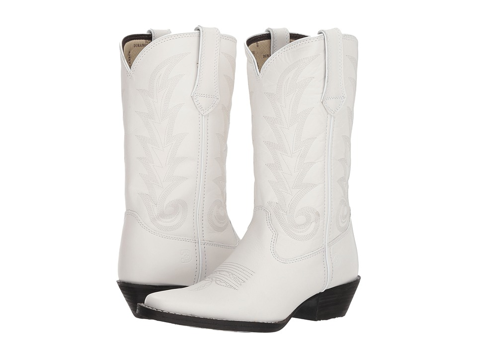 Durango Western 11 Narrow Square Toe (Porcelain White) Women's Cowboy Boots