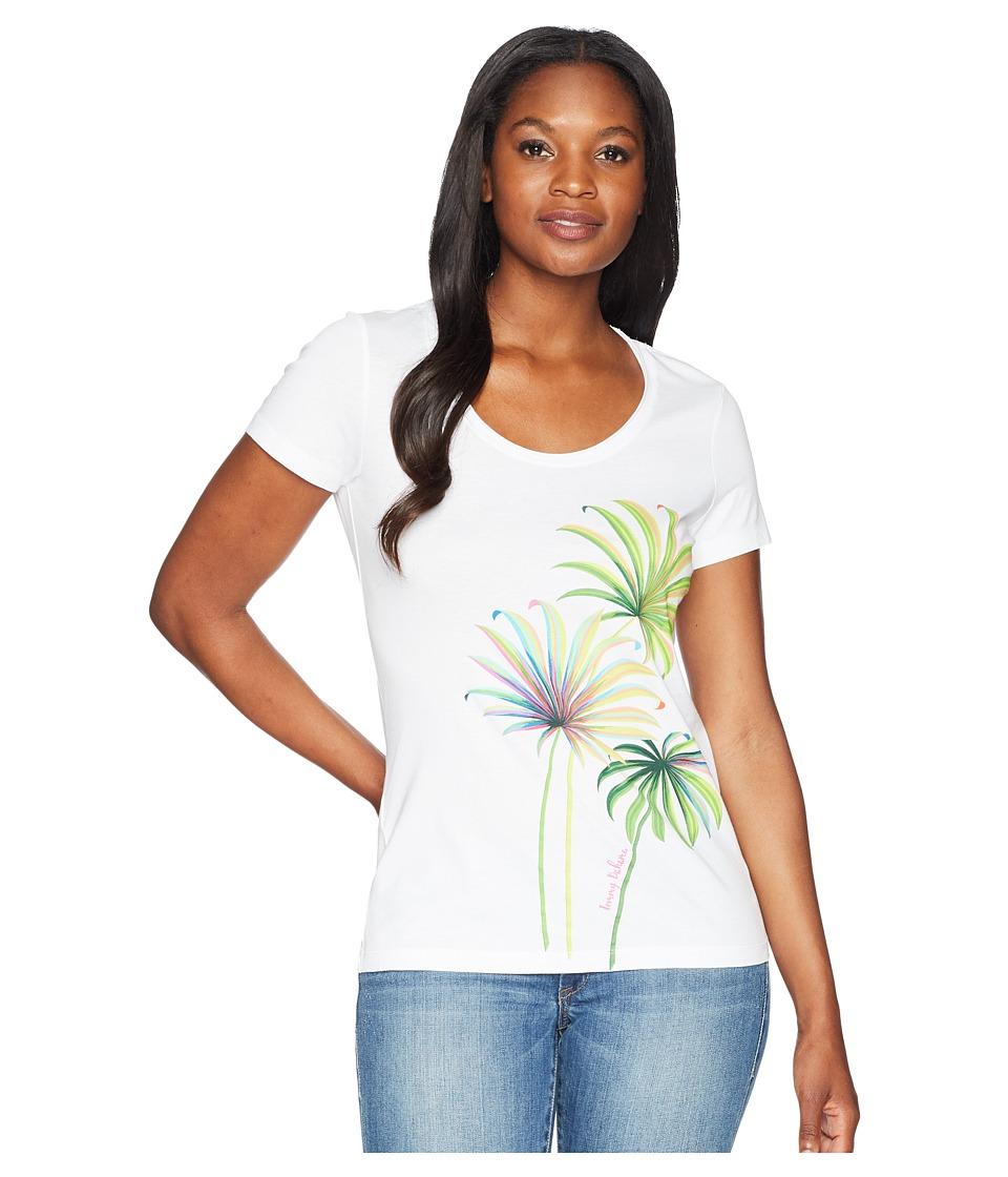 Tommy Bahama Cirque De Palm Tee (White) Women's T Shirt