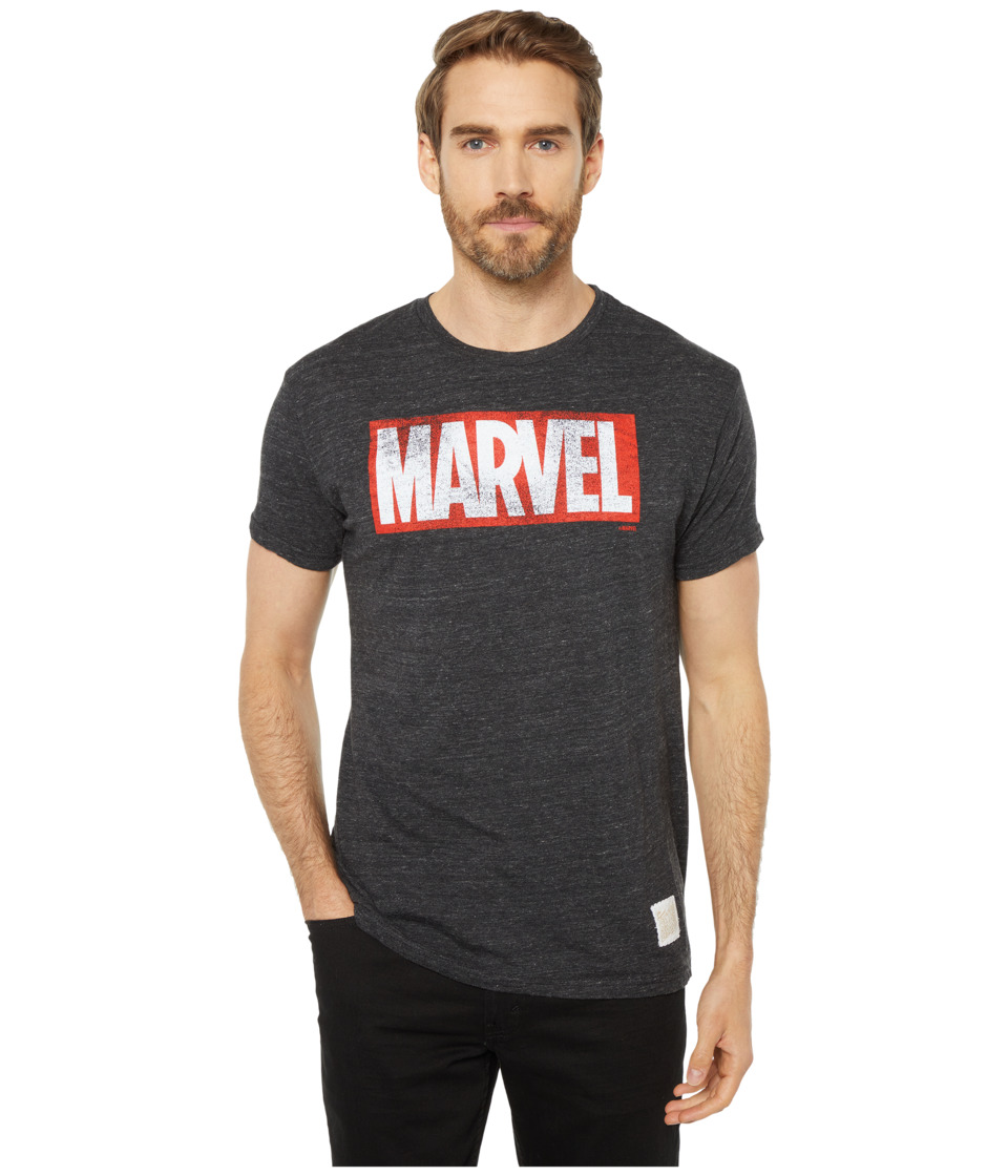 The Original Retro Brand - Marvel Short Sleeve Tri-Blend Tee (Streaky Black) Mens T Shirt