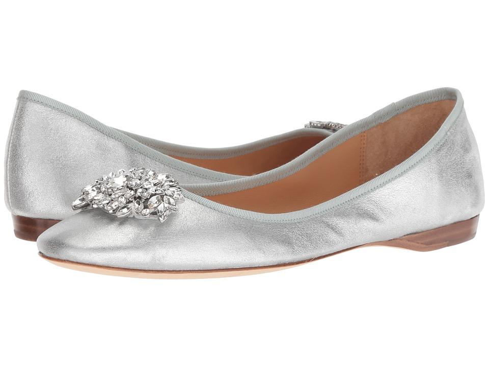 Badgley Mischka Pippa (Silver Metallic Suede) Flats