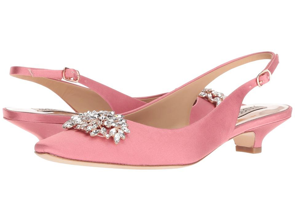Badgley Mischka Page (Rose Satin) 1-2 inch heel Shoes