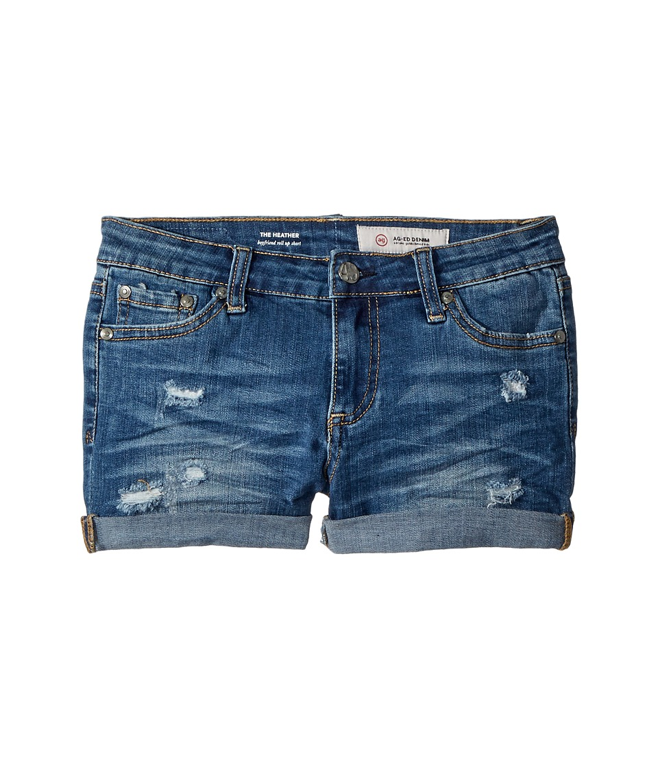 AG Adriano Goldschmied Kids - The Heather Roll Cuff Shorts in Sanded Wash (Big Kids) (Sanded Wash) Girls Shorts