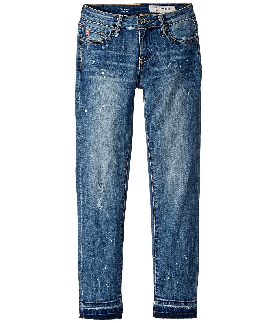 AG Adriano Goldschmied Kids - The Sierra Skinny Crop Release Hem in Antique Wash (Big Kids) (Antique Wash) Girls Jeans