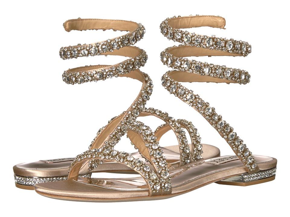 Badgley Mischka Paz (Latte Satin) Sandals