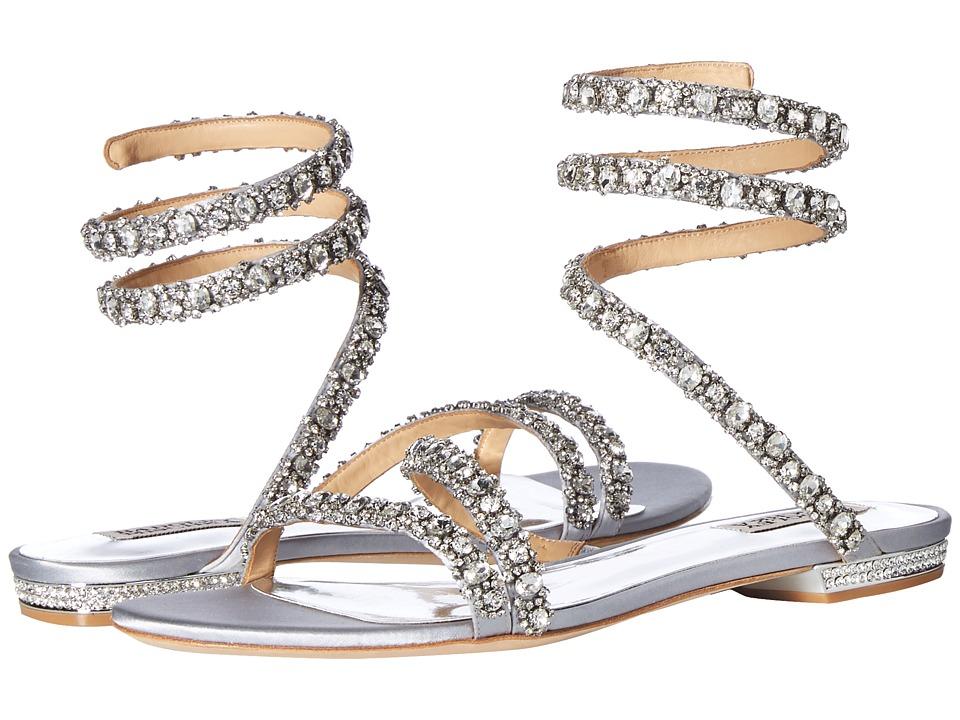Badgley Mischka Paz (Silver Satin) Sandals