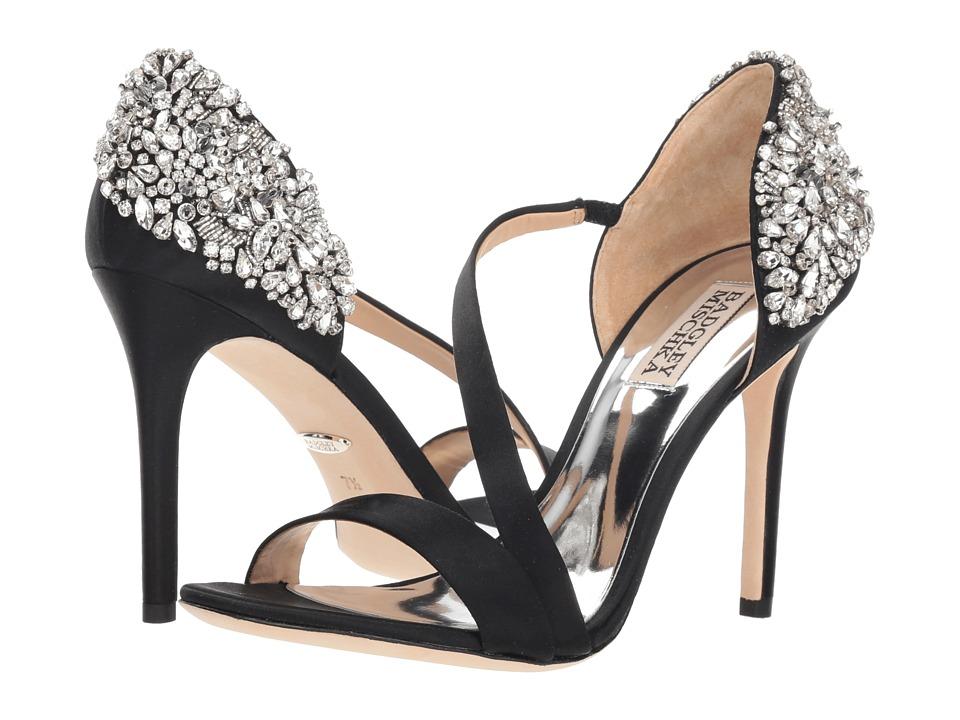 Badgley Mischka Pauline (Black Satin) Sandals