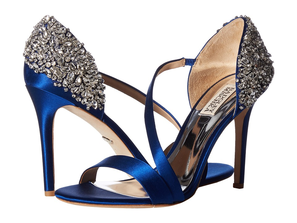 Badgley Mischka Pauline (Royal Blue Satin) Sandals