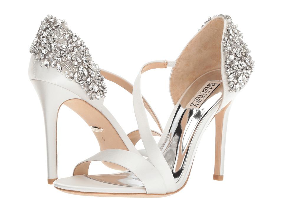 Badgley Mischka Pauline (Soft White Satin) Sandals