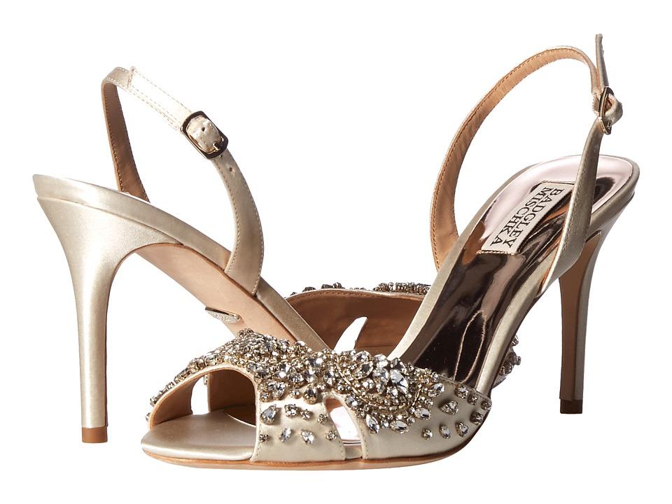 Badgley Mischka Paula (Ivory Satin) Sandals