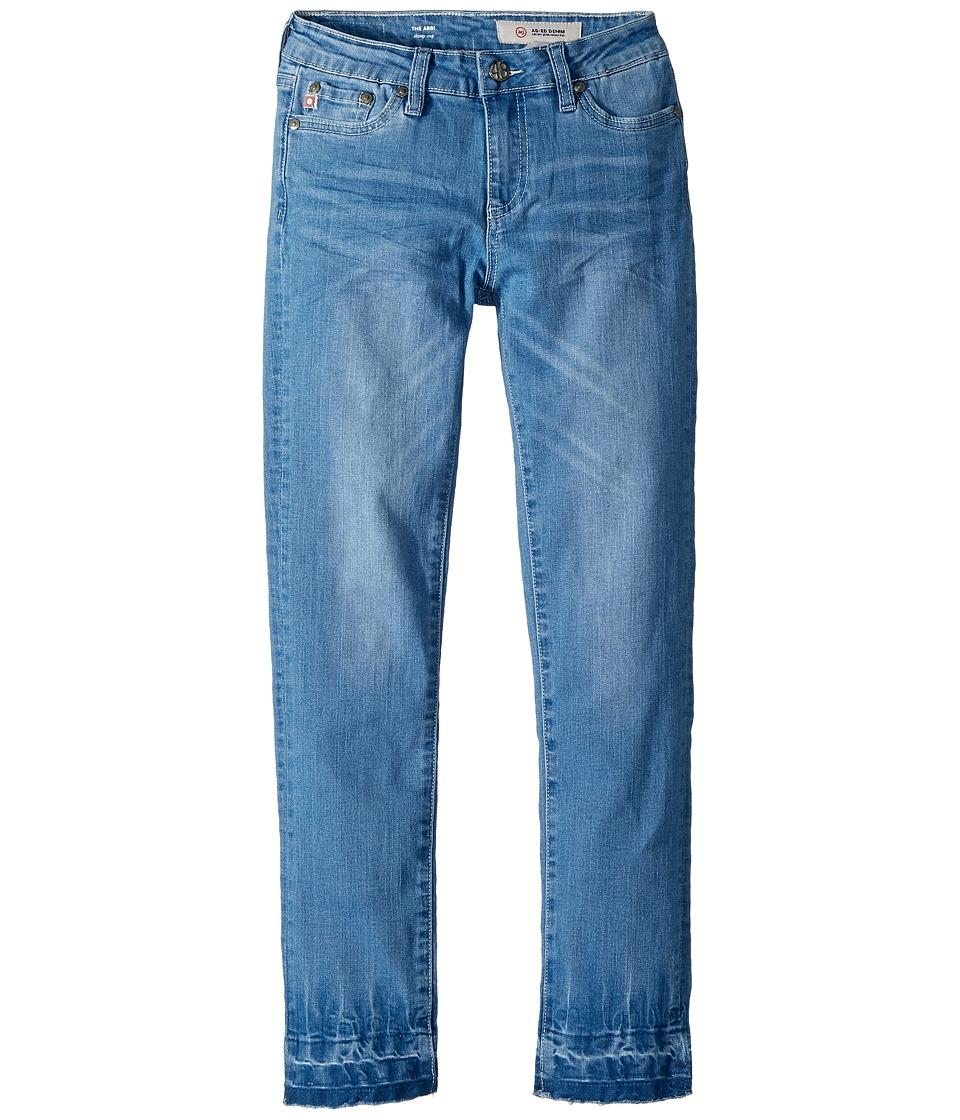 AG Adriano Goldschmied Kids - The Abbi Skinny Crop Novelty Hem in Atlantic Wash (Big Kids) (Atlantic Wash) Girls Jeans
