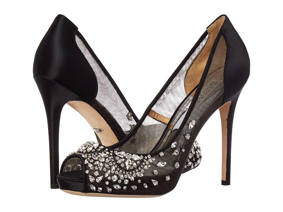 Badgley Mischka Pepper (Black Satin) Sandals
